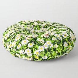 Field of daisy flowers Floor Pillow