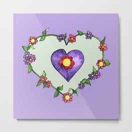 Heartily Floral Metal Print