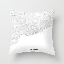 Toronto, Canada Minimalist Map Throw Pillow
