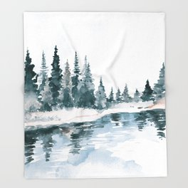 Mountain River Throw Blanket