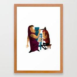 Music Players Framed Art Print