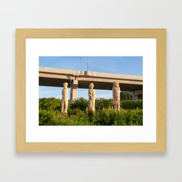 Carvings on The Harbour Passage Framed Art Print
