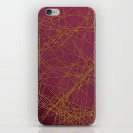 Sharp Edges (Maroon) iPhone Skin