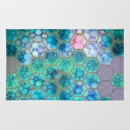 Onion cell hexagons Rug