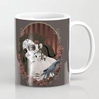 dia de los muertos Mugs featuring Dia de los Muertos by Kretly