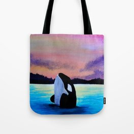 Orca Sunset Tote Bag