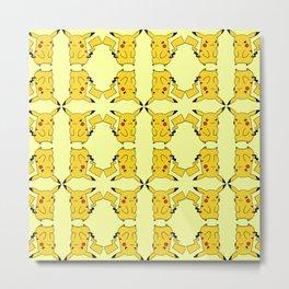 Pichu Evolved Pattern Metal Print