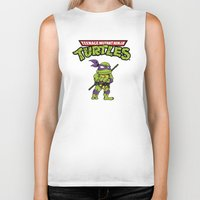 ninja turtle Biker Tanks featuring Ninja Turtle by flydesign