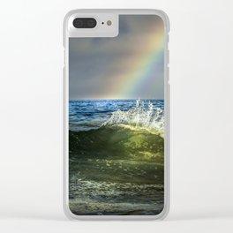 Shorebreak Rainbow & Flare Clear iPhone Case