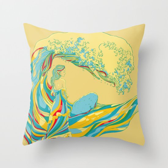 I See My Mother Throw Pillow