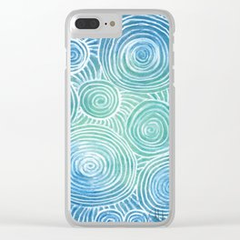 Blue Tint Abstract Clear iPhone Case