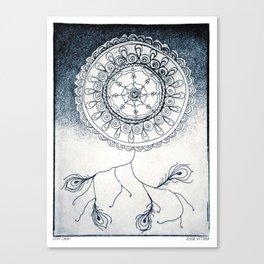 Stay Calm Blue Canvas Print
