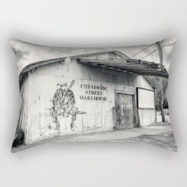 Black & White/Sepia-toned Photograph of Cheatham Street Warehouse, San Marcos, Texas Rectangular Pillow