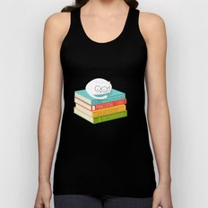 The Cat Loves Books Unisex Tank Top