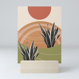 Snake Plant in the Desert #1 #tropical #wall #art #society6 Mini Art Print