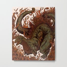 Kaiju In Flames  Metal Print