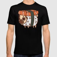 Puglie Salmon Sushi Mens Fitted Tee LARGE Black