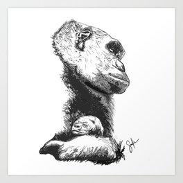 Megan and Mbani gorilla Art Print