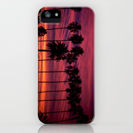 Sunset over Hollywood iPhone Case