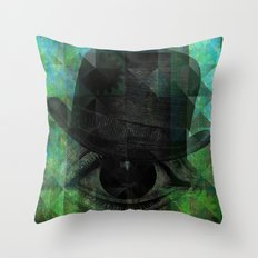 A VERY PRIVATE EYE Throw Pillow
