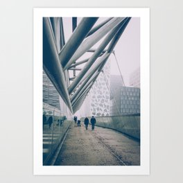 The Acrobat bridge part 3 Art Print