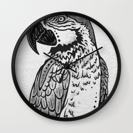 Parrot Sketch - BLACK Wall Clock