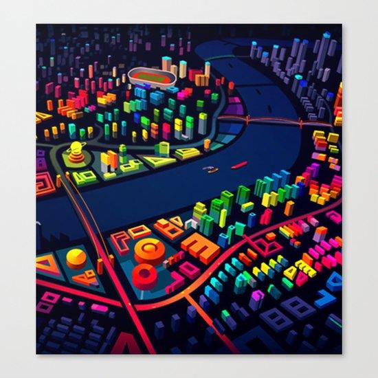 3D City Canvas Print