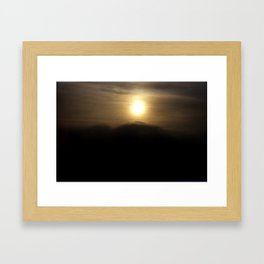 Full Moon Framed Art Print