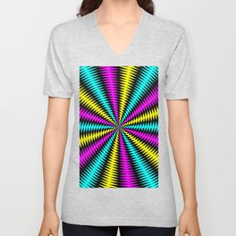 Tunnel of Distraction Remix 2 Unisex V-Neck