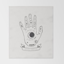Palmistry Hand Throw Blanket
