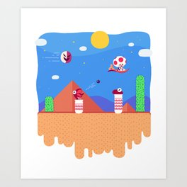Tiny Worlds - Super Mario Bros. 2: Toad Art Print