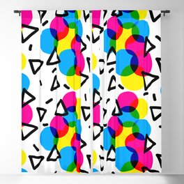 CMYK Confetti Blackout Curtain