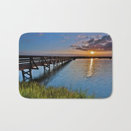 Bolsa Chica Wetlands Sunrise  6/27/14 Bath Mat