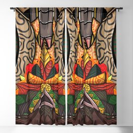 colorful wallpaper Blackout Curtain