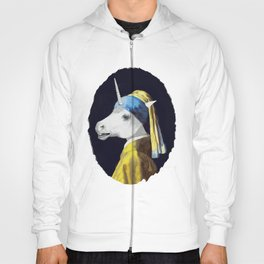 Unicorn with a Pearl Earring Hoody