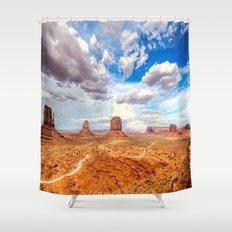 Four Corners Utah Desert Landscape Shower Curtain