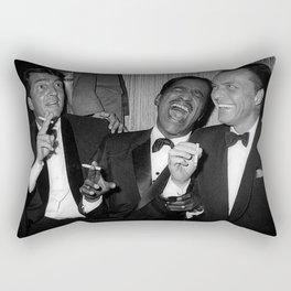 The Rat Pack - Frank Sinatra, Dean Martin, Sammy Davis Jr. Laughing Rectangular Pillow