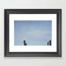 Tottling Two:  Abridged Chicago Skyline Framed Art Print