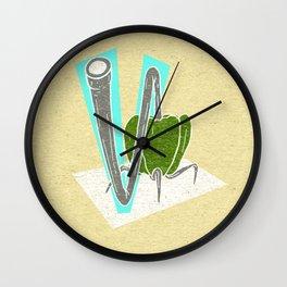 Vegetable Vacuum Cleaner V Wall Clock