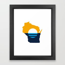 Wisconsin - People's Flag of Milwaukee Framed Art Print