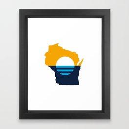 Wisconsin - People's Flag of Milwaukee Framed Art Print