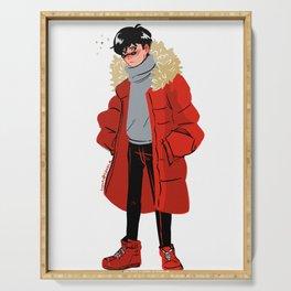 Eiji Okumura big coat Serving Tray