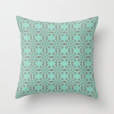 Mint Circles Throw Pillow