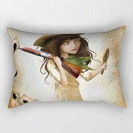 The Little Sharpshooter Rectangular Pillow