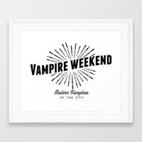 modern vampires of art history Framed Art Prints featuring Vampire Weekend // Modern Vampires of the City by alquimie