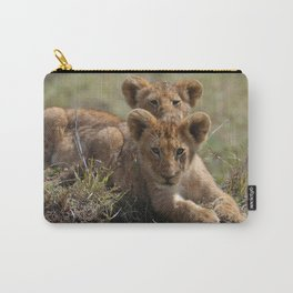 Two lion Clubs At Play Carry-All Pouch