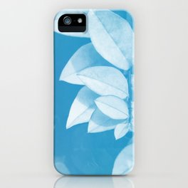 Leaves in Blue iPhone Case