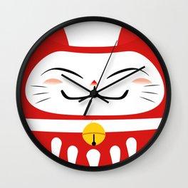 NEKO DARUMA Wall Clock