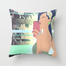 Depart From Me Throw Pillow