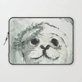 White Seal Laptop Sleeve